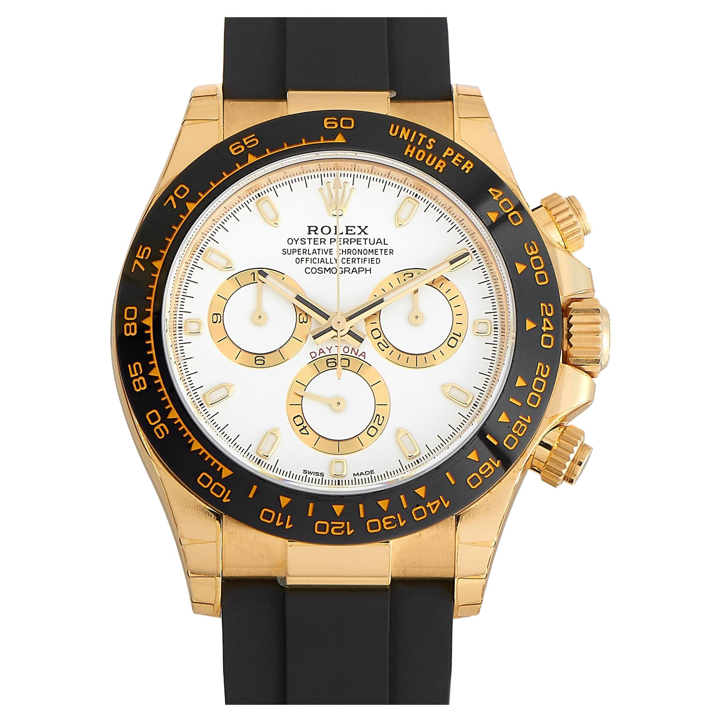 Rolex Cosmograph Daytona Yellow Gold Watch 116518LN-0041