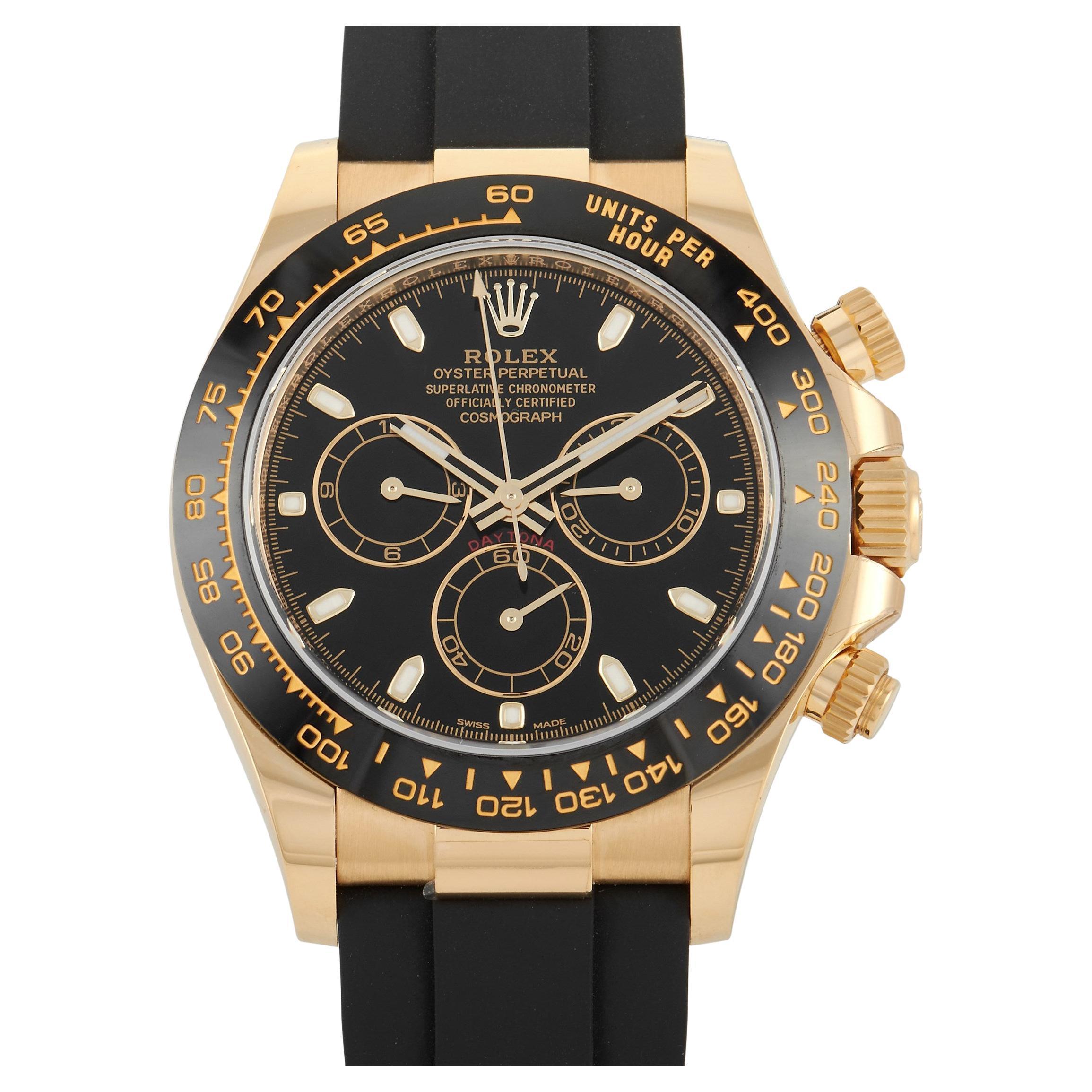 Rolex Cosmograph Daytona Yellow Gold Watch 116518LN