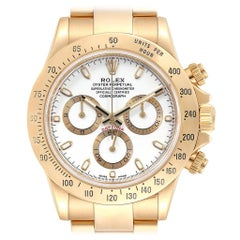 Rolex Cosmograph Daytona Yellow Gold White Dial Men's Watch 116528