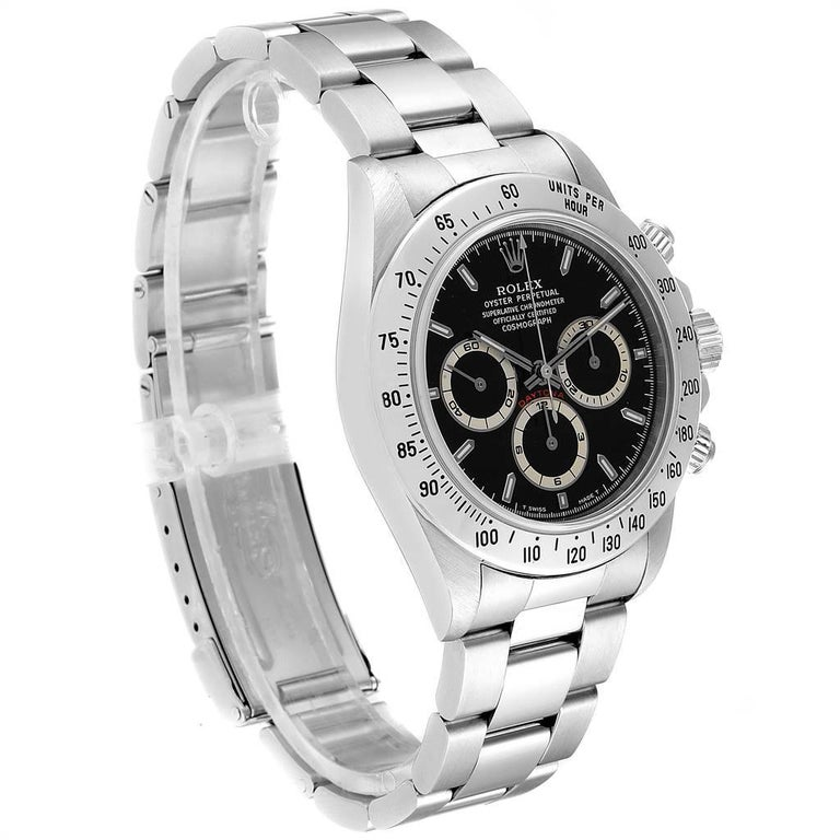 Rolex Cosmograph Daytona Zenith Movement Men's Watch 16520 Box Papers In Excellent Condition For Sale In Atlanta, GA