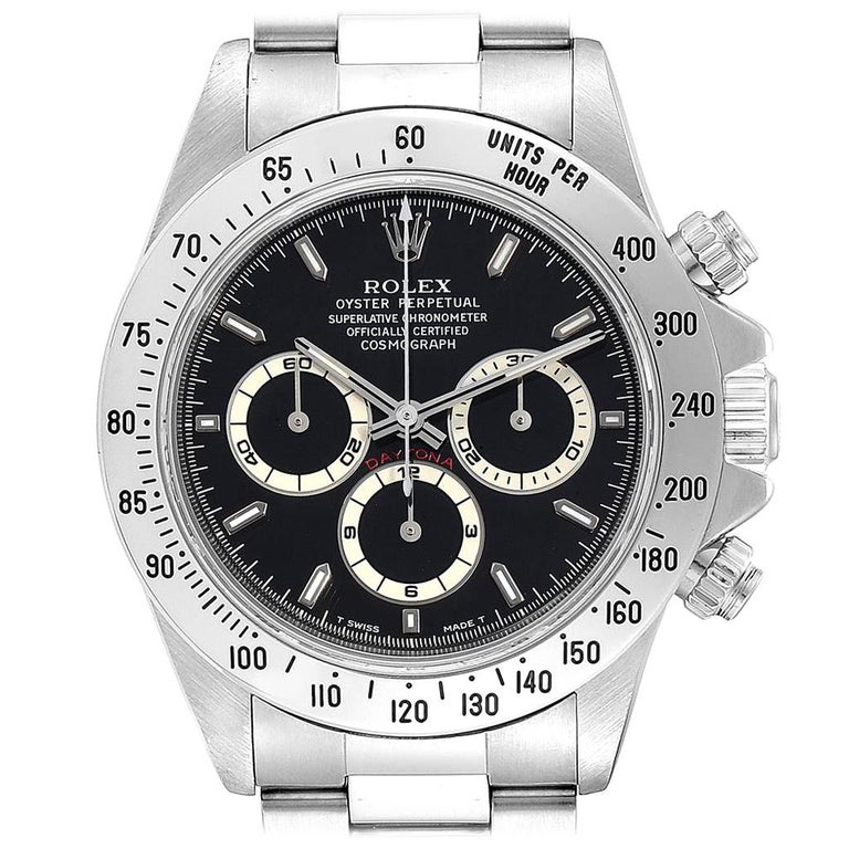 Rolex Cosmograph Daytona Zenith Movement Men's Watch 16520 Box Papers For Sale
