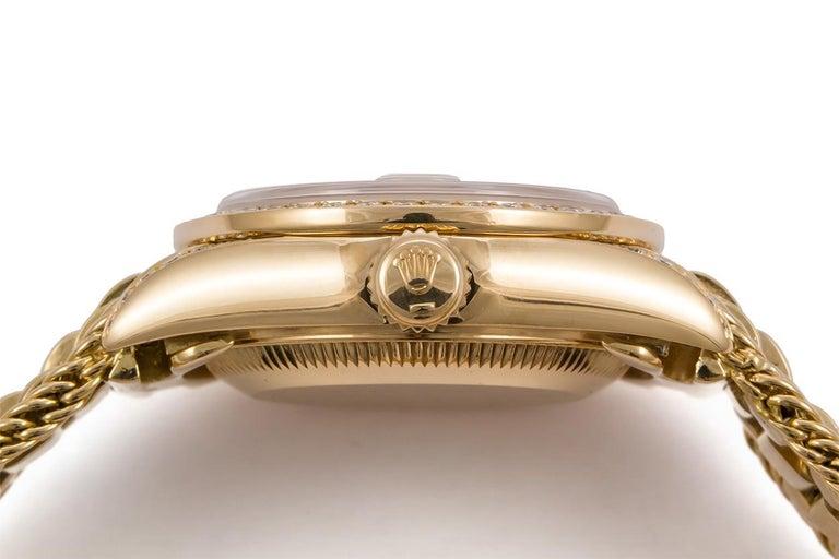 Rolex Crown Collection Ladies Datejust President 18 Karat Gold Diamond 69238 For Sale 1