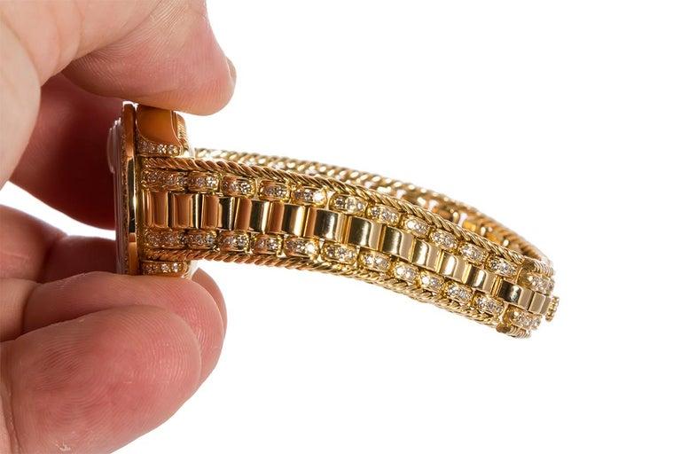 Rolex Crown Collection Ladies Datejust President 18 Karat Gold Diamond 69238 For Sale 2