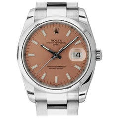 Rolex Date 115200, Millimeters Black Dial, Certified and Warranty