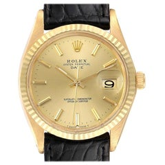 Rolex Date 14 Karat Yellow Gold Automatic Vintage Men's Watch 1503