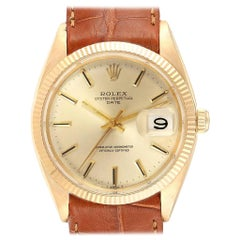 Rolex Date 14 Karat Yellow Gold Automatic Vintage Men's Watch 1503