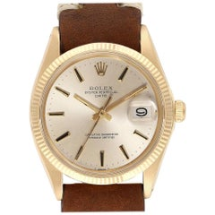 Rolex Date 14 Karat Yellow Gold Automatic Vintage Men's Watch 1503 Box Papers