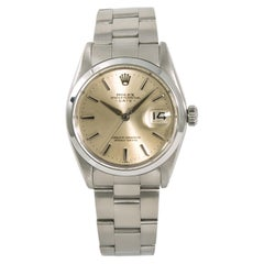 Rolex Date 1500 Men's Automatic Vintage Watch Silver Dial Stainless Steel
