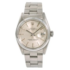 Rolex Date 1500 Men's Automatic Watch Silver Dial Stainless Steel