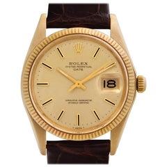 Rolex Date 1503 18 Karat Gold Dial Automatic Watch