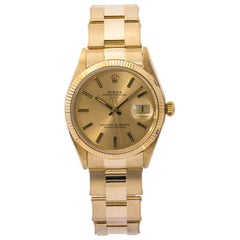 Rolex Date 1503, Gold Dial, Certified and Warranty