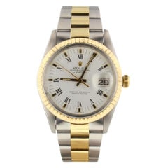 Rolex Date 15053, White Dial, Certified and Warranty