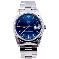 Rolex Date 15200 Blue Index Dial Stainless Steel