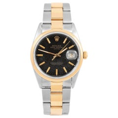 Rolex Date 15203, Black Dial, Certified and Warranty