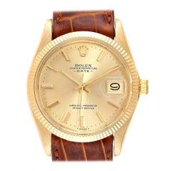Rolex Date 18 Karat Yellow Gold Automatic Vintage Men's Watch 1503