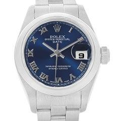 Rolex Date 26 Blue Dial Oyster Bracelet Ladies Watch 79160