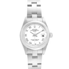 Rolex Date 26 White Dial Domed Bezel Steel Ladies Watch 79160