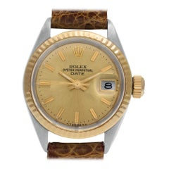 Rolex Date 6917, Gold Dial, Certified and Warranty