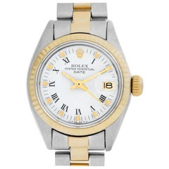 Rolex Date 6917 Stainless Steel White Dial Automatic Watch