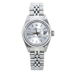 Rolex Date 69190 Silver Dial Jubilee Stainless Automatic Womens Watch