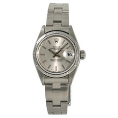 Rolex Date 69190 with Box Women's Automatic Watch Silver Dial Stainless Steel