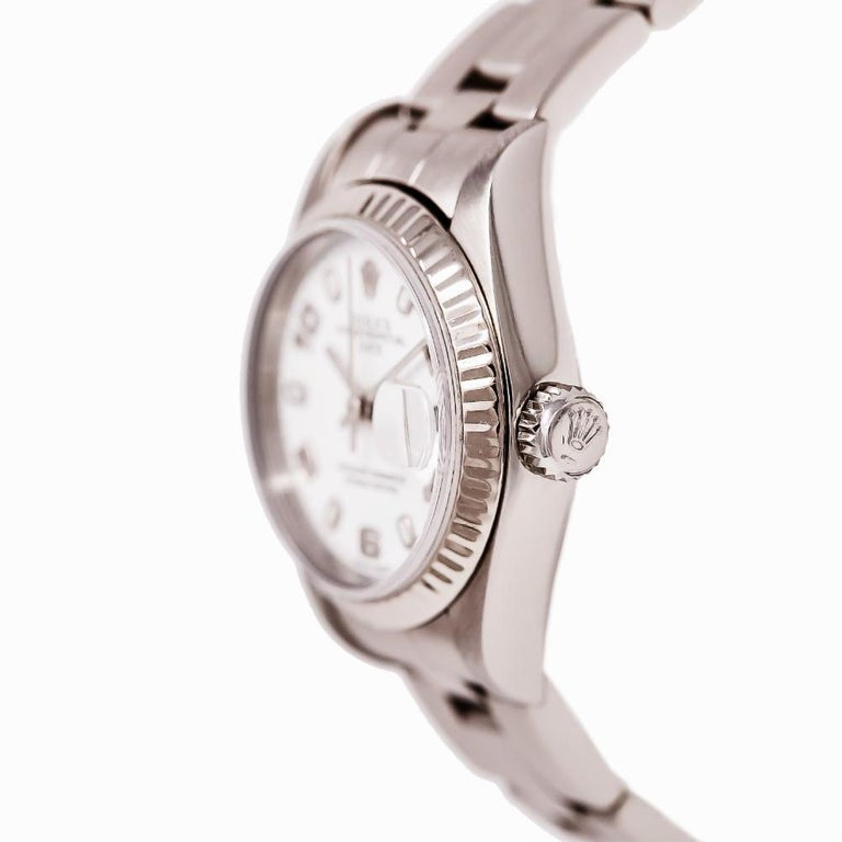 Contemporary Rolex Date 79160, White Dial, Certified and Warranty For Sale