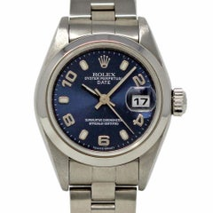 Rolex Date 79160 Stainless Steel Blue Arabic Concentric 2000 2 Year Warranty