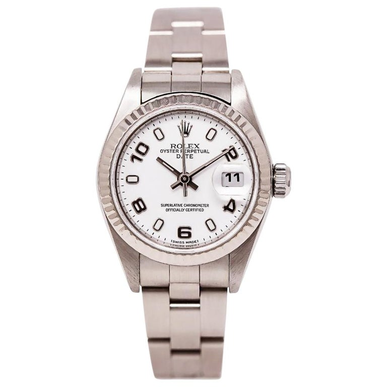Rolex Date 79160, White Dial, Certified and Warranty For Sale