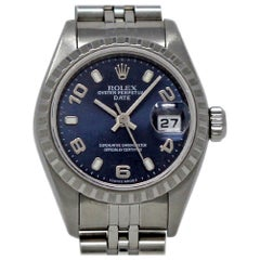 Rolex Date 79240, Black Dial, Certified and Warranty