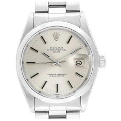 Rolex Date Automatic Stainless Steel Vintage Men's Watch 1500