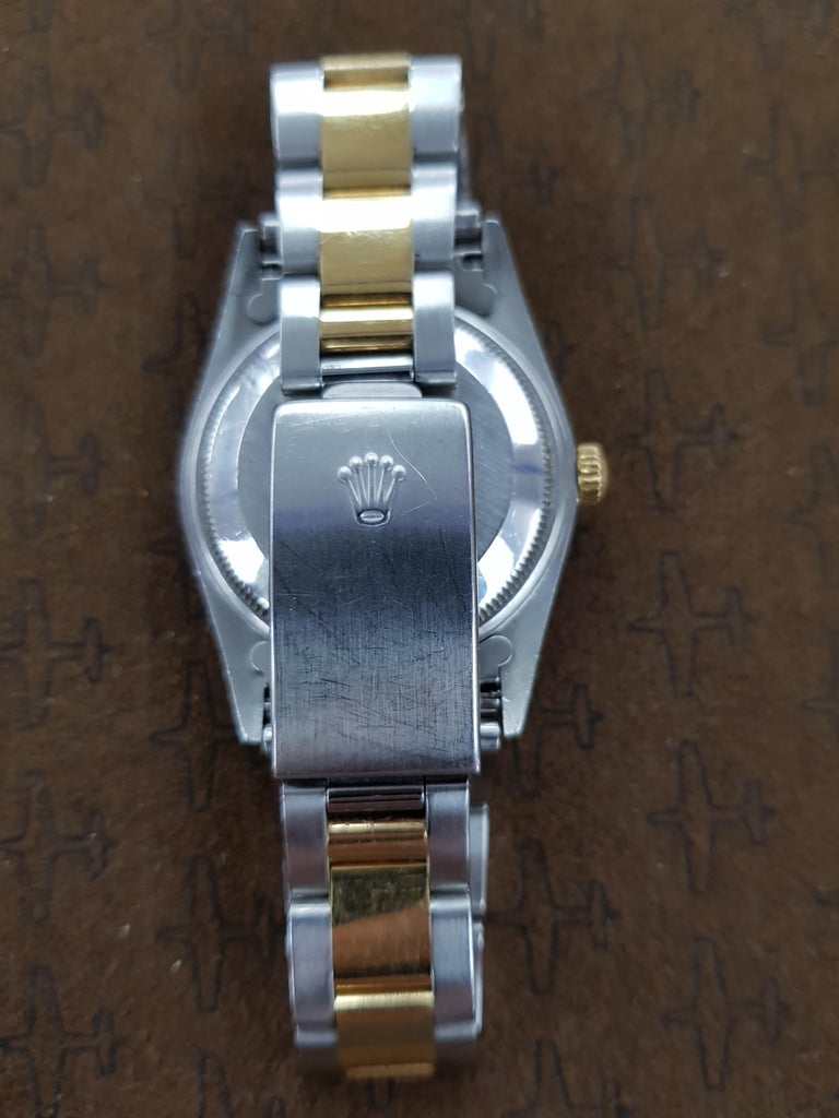 Rolex Date, Bi-Metal, Model Number 15203, Registered, 2000 In Excellent Condition For Sale In London, GB