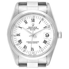 Rolex Date Domed Bezel Oyster Bracelet Steel Men's Watch 15200