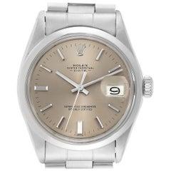 Rolex Date Grey Dial Domed Bezel Vintage Men's Watch 1500