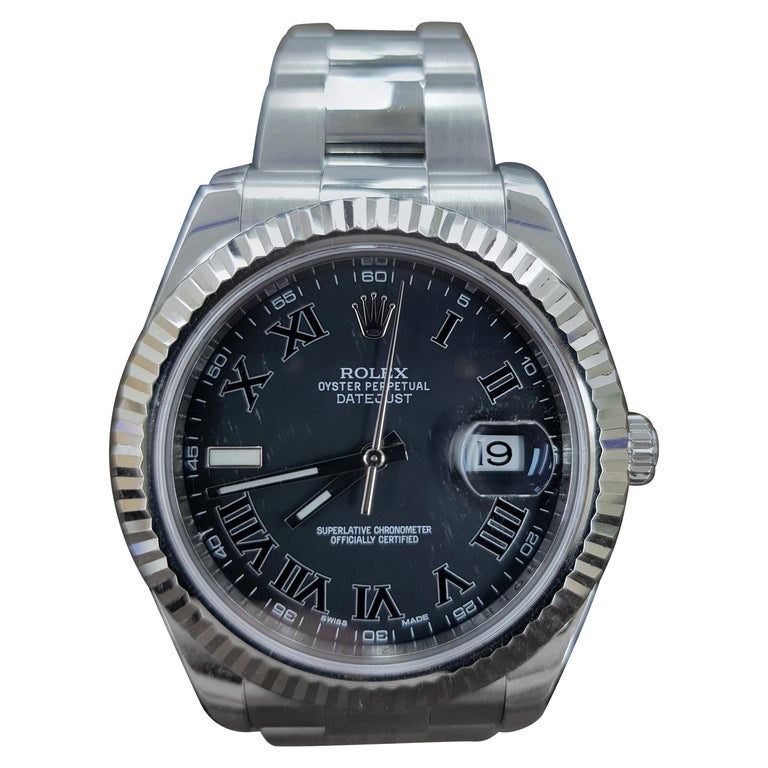 Rolex Date Just 2, Stainless Steel, Model Number 116334 Registered 2011 For Sale