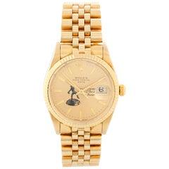 Rolex Date Men's 14 Karat Yellow Gold Davey O'Brien Award Watch