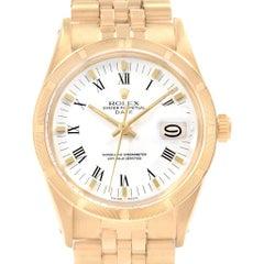 Rolex Date Men's 14 Karat Yellow Gold Vintage Men's Watch 15017