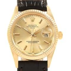 Rolex Date Men's 14 Karat Yellow Gold Vintage Men's Watch 15037