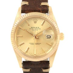 Rolex Date Men's 14 Karat Yellow Gold Vintage Men's Watch 15037