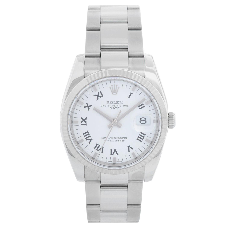 Rolex Date Men's Stainless Steel Watch 115234
