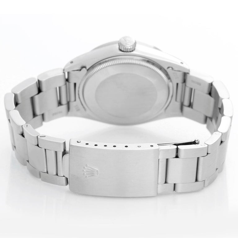 Rolex Date Men's Stainless Steel Watch 1501 In Excellent Condition For Sale In Dallas, TX