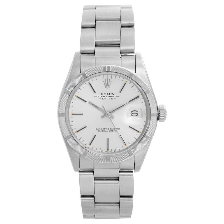 Rolex Date Men's Stainless Steel Watch 1501 For Sale