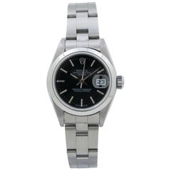 Rolex Date Oyster 79160 Automatic Ladies Watch Stainless Steel Black Dial