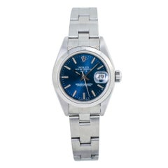 Rolex Date Oyster 79160 Automatic Lady's Watch Stainless Steel BlueDial