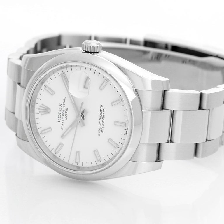 Rolex Date Oyster Perpetual Men's Watch 115200 In Excellent Condition In Dallas, TX