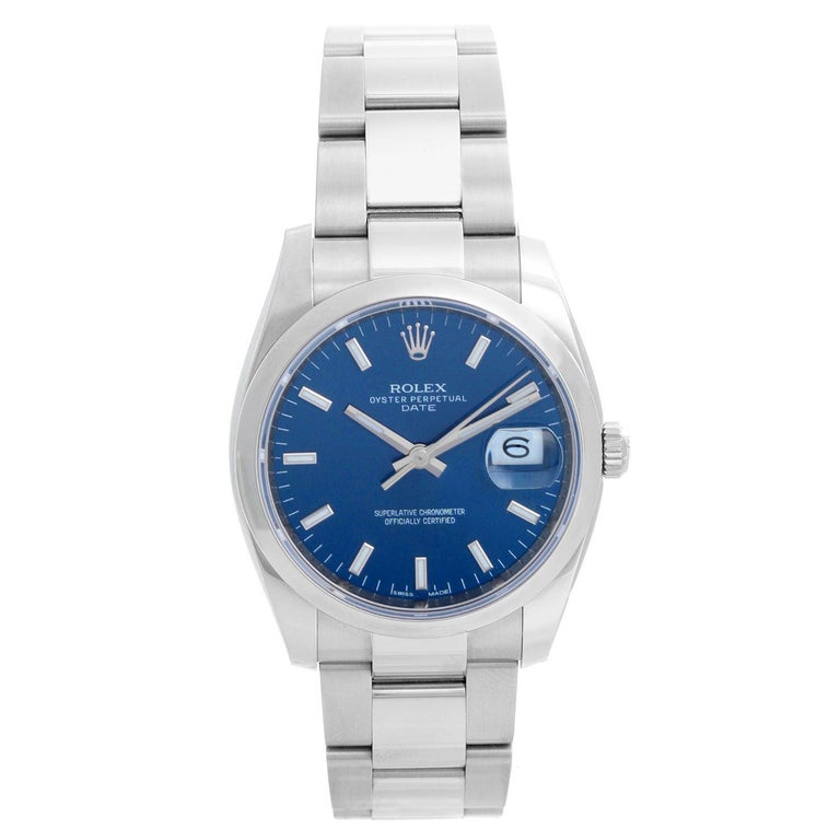Rolex Date Oyster Perpetual Men's Watch 115200 For Sale