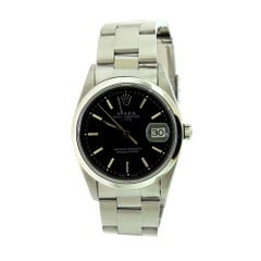 Rolex Date Oyster Perpetual Ref. 15200 Stainless Steel Black Dial Watch (R