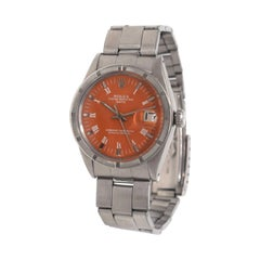 Rolex Date Ref. 1500 Steel Oyster Perpetual Orange Dial Watch 'R-29'