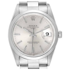 Rolex Date Silver Dial Oyster Bracelet Automatic Men's Watch 15200 Box
