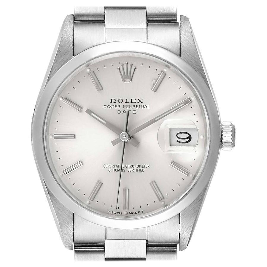 Rolex Date Silver Dial Oyster Bracelet Automatic Men's Watch 15200