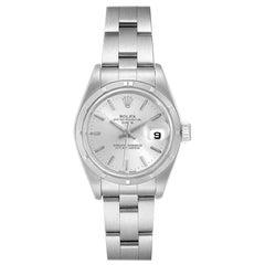 Rolex Date Silver Dial Oyster Bracelet Steel Ladies Watch 79190